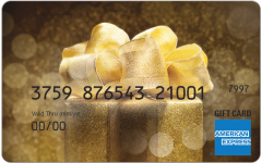 American Express Gold Sparkle Gift Card