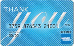 American Express Thank Pinstripes Gift Card